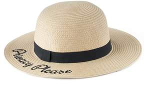 Lauren Conrad Women's Privacy Please Straw Floppy Hat
