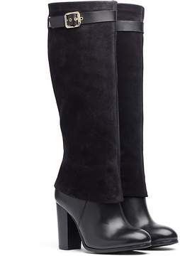 Tommy Hilfiger Suede And Leather Tall Boot