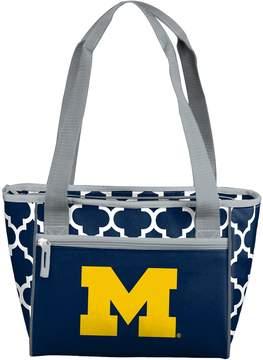 NCAA Logo Brand Michigan Wolverines Quatrefoil 16-Can Cooler Tote