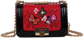 Women's Nicole Lee Visola Butterfly Embroidered Small Cross Body Bag