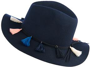 Shiraleah Navy Tassel Wool Fedora