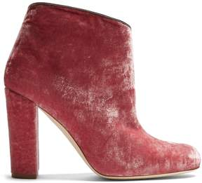 Malone Souliers Eula crushed-velvet ankle boots