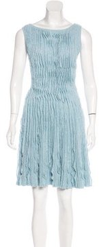 Chanel Cashmere-Blend Pleated Dress