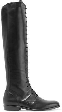 Belstaff Hepworth Lace-Up Leather Knee Boots