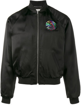 Saint Laurent shark embroidered bomber jacket