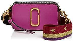 Marc Jacobs Snapshot Saffiano Leather Camera Bag - DEEP MAROON MULTI/GOLD - STYLE