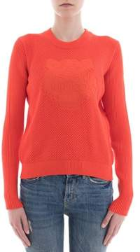 Kenzo Women's Orange Cotton Sweatshirt.