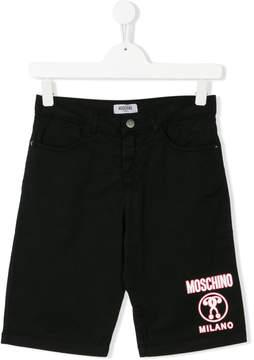 Moschino Kids Teen logo printed shorts