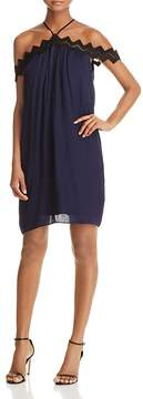 Aqua Crochet Trim Off-the-Shoulder Dress - 100% Exclusive