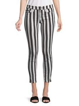 Calvin Klein Jeans Striped Skinny Ankle Jeans