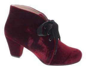Patricia Green Clair Velvet Lace-Up Booties