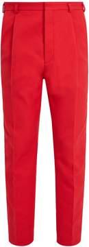 Bottega Veneta Single-pleat cotton-blend piqué trousers