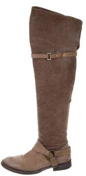 Brunello Cucinelli Leather Over-The-Knee Boots