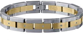 JCPenney FINE JEWELRY Mens Two-Tone Stainless Steel Bracelet