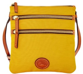 Dooney & Bourke Nylon North South Triple Zip Shoulder Bag - MARIGOLD - STYLE