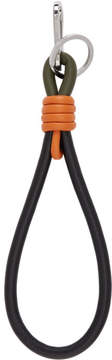 Loewe Black and Orange Handle Knot Keychain