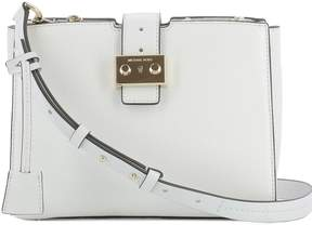 Michael Kors White Leather Shoulder Bag - WHITE - STYLE