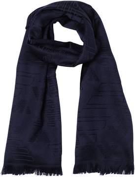 Emporio Armani Logo Wool Jacquard Scarf