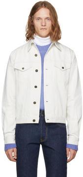 Calvin Klein White Denim Archive Trucker Jacket