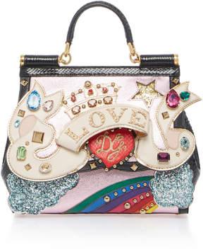 Dolce & Gabbana Love Sicily Leather Bag