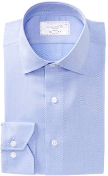 Lorenzo Uomo Mini Diamond Trim Fit Dress Shirt