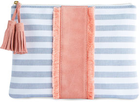 Vineyard Vines Coastside Stripe Zip Clutch