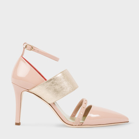 Paul Smith Women's Pink And Gold Patent Leather 'Nora' Shoes