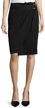 BA&SH Crepe Belted Wrap Skirt