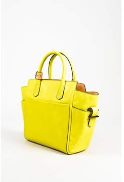 Reed Krakoff Pre-owned Neon Yellow Beige & Gray Leather Top Handle Crossbody Bag.