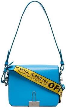 Off-White Blue Bulldog Clip Leather Shoulder Bag