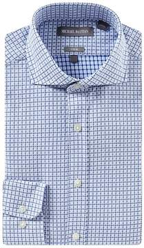 Michael Bastian Trim Fit Spread Collar Windowpane Dress Shirt