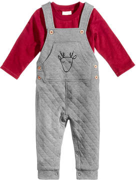 First Impressions 2-Pc. T-Shirt & Quilted Overall Set, Baby Boys (0-24 months), Created for Macy's