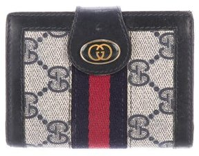 Gucci GG Canvas Web Card Case - BLUE - STYLE