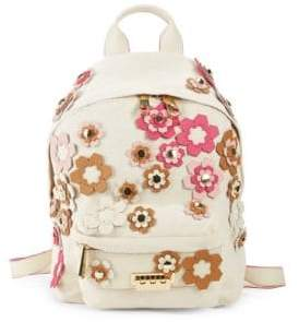 Zac Posen Eartha Small Floral Appliqué Backpack