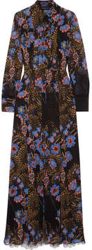 Etro Lace-paneled Floral-print Silk-chiffon Maxi And Shirt Dress Set - Black
