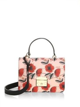 Furla Floral Leather Clutch