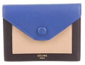Celine Tricolor Multifunction Pocket Wallet