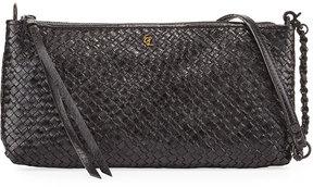 Elliott Lucca Demi Three-Way Woven Leather Crossbody Bag