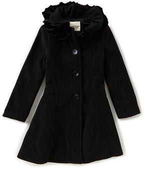 Copper Key Little Girls 2T-6X Ruffle Collar Fleece Coat