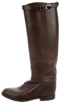 Hermes Leather Jumping Boots