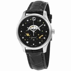 Gucci G-Timeless Black Motifs Dial Men's Watch YA126327