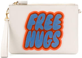 Anya Hindmarch Free Hugs clutch bag