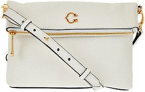 As Is C. Wonder Pebble Leather Foldover Crossbody Bag
