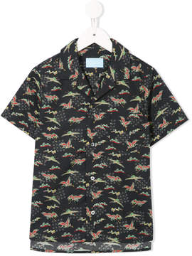 Lanvin Enfant birds print shortsleeved shirt