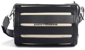 Paco Rabanne Cage Leather & Canvas Shoulder Bag