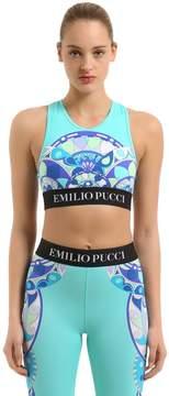 Emilio Pucci Logo Printed Lycra Crop Top