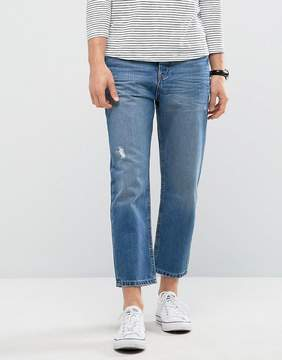 Kiomi Tapered Fit Jeans with Cropped Leg