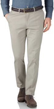 Charles Tyrwhitt Stone Extra Slim Fit Stretch Cavalry Twill Pants Size W38 L32