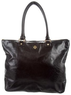 Tory Burch Textured Leather Tote - BLACK - STYLE