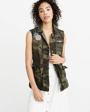 Abercrombie & Fitch Patch Twill Vest
